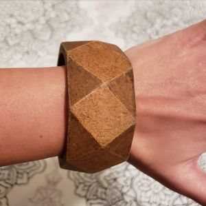 Jewelry - 3/$10 Chunky wooden bangle. GUC